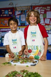 School children involved in the food for life project