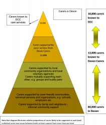 Figure 10.12 Support available to carers in Devon