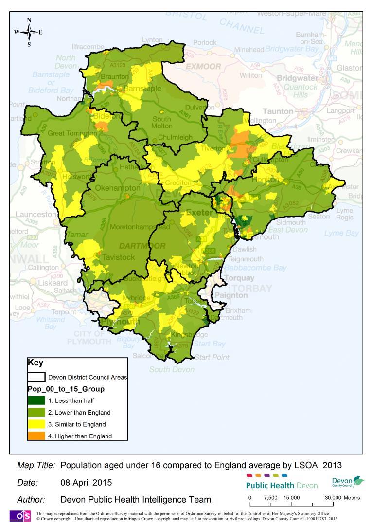 South Devon England Map.Population Structure Devon Health And Wellbeing