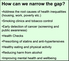 Figure 5 Causes of Death Narrowing the Gap