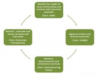 Figure 6 The Commissoning Cycle for Devon Health and Wellbeing