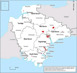 Figure 6.2 Devon Air Quality Management Areas