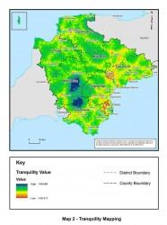 Figure 6.3 Map of tranquility across Devon